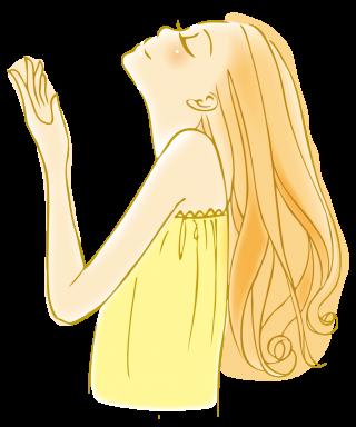 女性のイラスト│栄養豊富なミドリムシで健康的で美しい体を手に入れてください