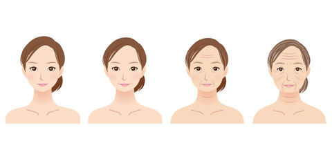 肌の老化は自然老化が20%、光老化が80%が原因。