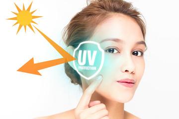 リジューナは紫外線からお肌を守る働きがある。